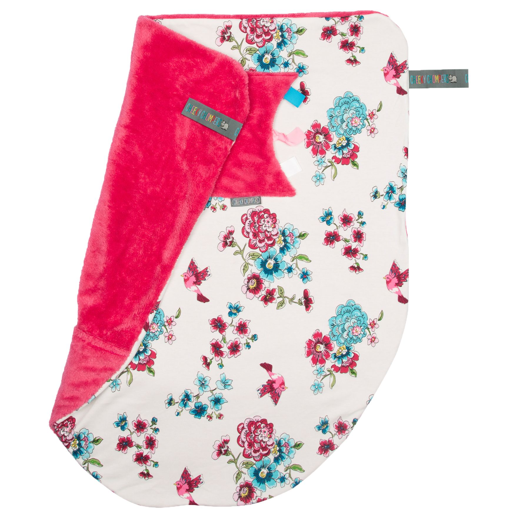 Cheeky Chompers Cheeky Chompers Baby Anna Floral Blanket, Cream/Multi