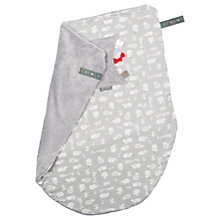 Buy Cheeky Chompers Baby Safari Blanket, Grey/White Online at johnlewis.com