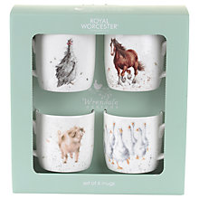 Buy Royal Worcester Wrendale Farmyard Mugs, Set of 4 Online at johnlewis.com