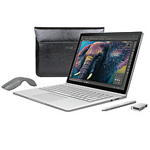 Buy Microsoft Surface Book with Arc Touch Mouse, Surface Pen Tip Kit and Maroo Marbled Leather Sleeve Online at johnlewis.com