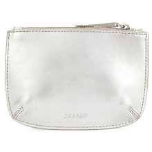 Buy Jigsaw Ana Metallic Small Leather Pouch Online at johnlewis.com