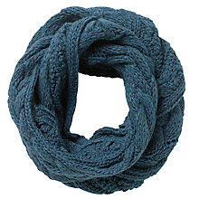 Buy East Chunk Knitted Snood, Teal Online at johnlewis.com