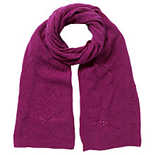 Buy East Pointelle Scarf, Magenta Online at johnlewis.com
