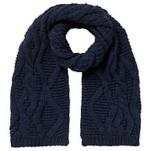 Buy East Chunky Knitted Scarf, Navy Online at johnlewis.com