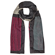 Buy Jigsaw Block Stripe Print Silk Scarf, Multi Online at johnlewis.com