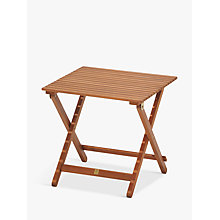 Buy John Lewis Venice Folding Side Table, FSC-Certified (Eucalyptus), Natural Online at johnlewis.com