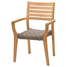Buy John Lewis Longstock Woven Stacking Garden Armchair, FSC-Certified (Teak), Natural Online at johnlewis.com