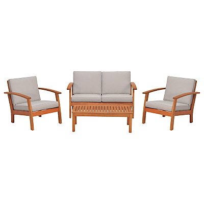 John Lewis Venice 4-Piece Lounging Set, FSC-Certified (Eucalyptus), Natural