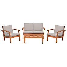 Buy John Lewis Venice 4-Piece Lounging Set, FSC-Certified (Eucalyptus), Natural Online at johnlewis.com