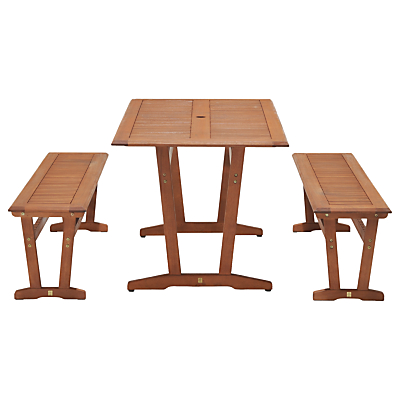 John Lewis Venice Bench & Table Dining Set, FSC-Certified (Eucalyptus), Natural