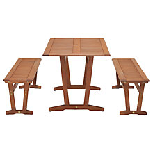 Buy John Lewis Venice Bench & Table Dining Set, FSC-Certified (Eucalyptus), Natural Online at johnlewis.com