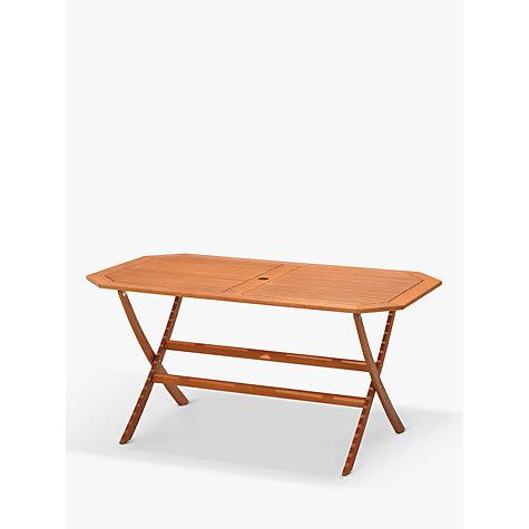 Buy john lewis venice gateleg table 6 folding armchairs fsc certified eucalyptus natural - Folding gateleg table ...