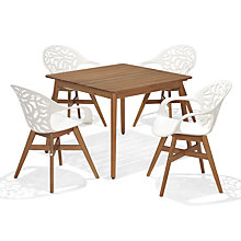 Buy John Lewis Oslo Square Dining Table & 4 Oslo Dining Chairs, FSC-Certified (Eucalyptus), Natural Online at johnlewis.com