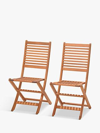 John Lewis & Partners Venice Folding Chairs, FSC-Certified (Eucalyptus), Set of 2