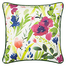 Buy John Lewis Floral Outdoor Cushion, H43 x W43cm Online at johnlewis.com