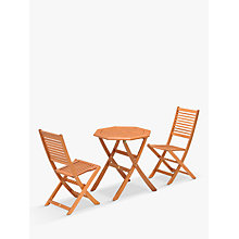 Buy John Lewis Venice Bistro Set, FSC-Certified (Eucalyptus), Natural Online at johnlewis.com