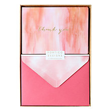 Buy Portico Thank You Evening Haze Notecards, Box of 10 Online at johnlewis.com