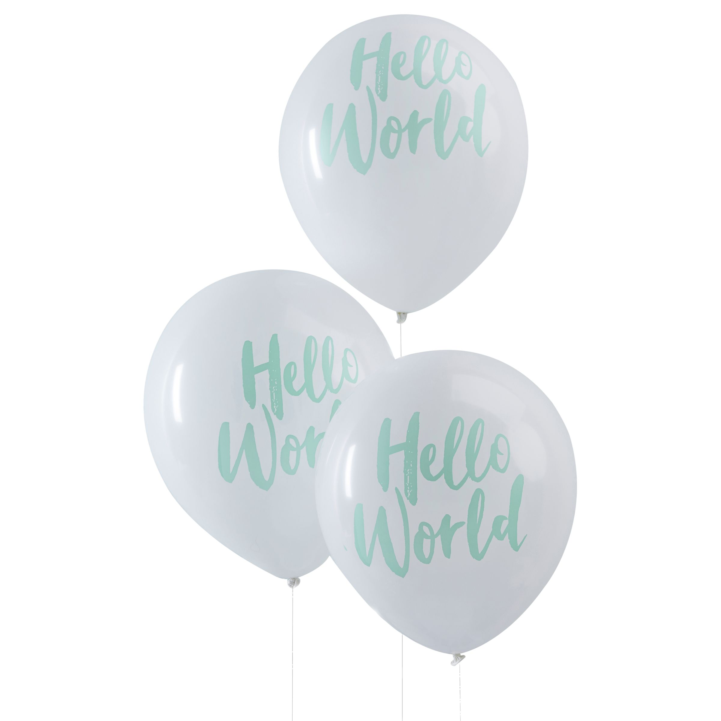 Ginger Ray Ginger Ray Hello World Baby Shower Balloons, Pack of 10