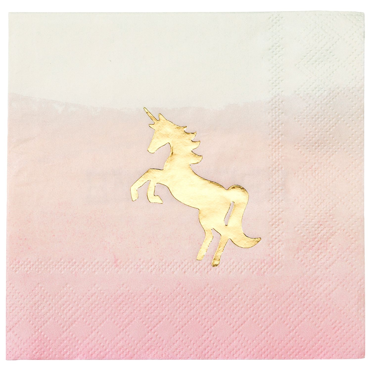 Talking Tables Talking Tables We Heart Unicorns Cocktail Napkins, Pack of 16