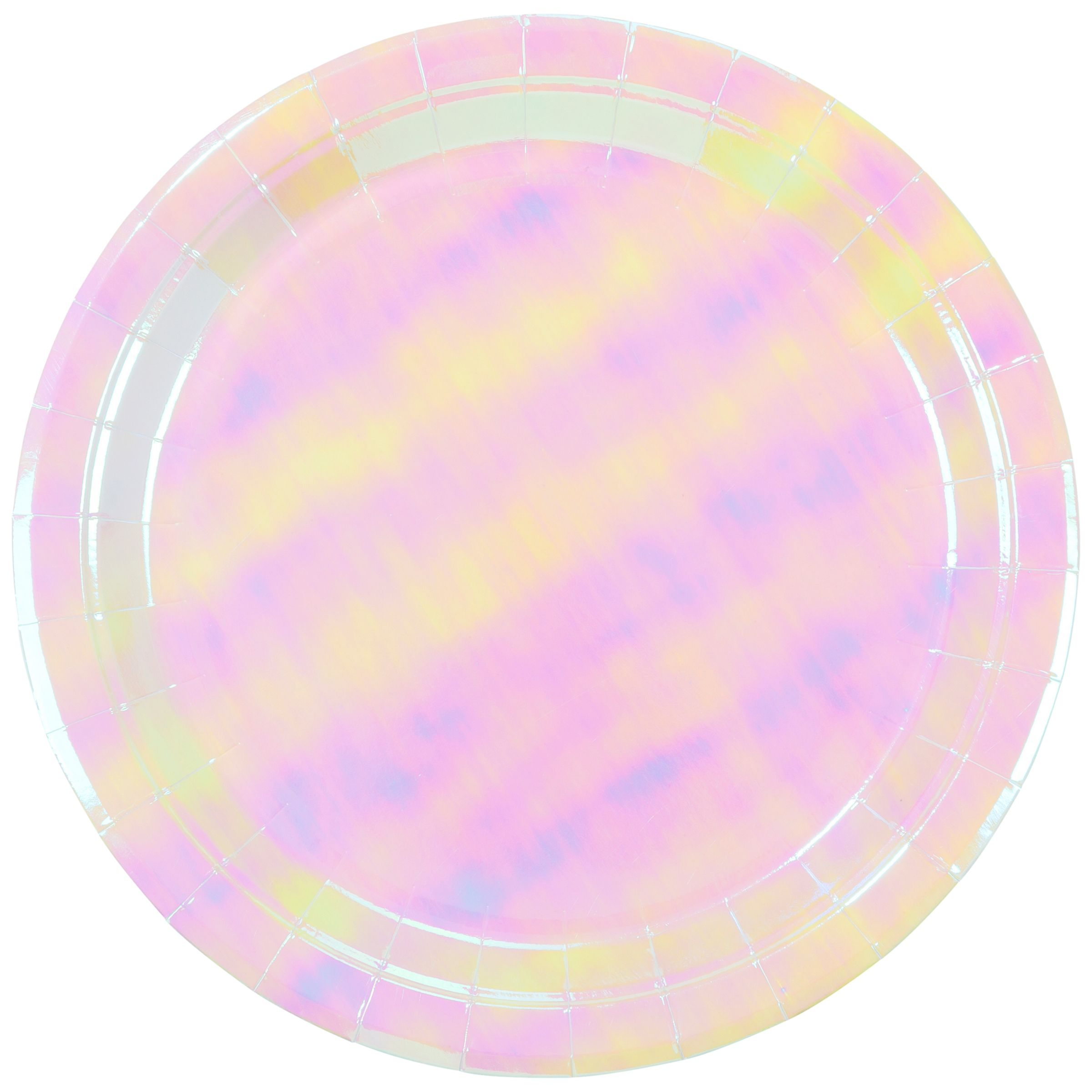 Talking Tables Talking Tables We Heart Iridescent Plates, Pack of 12