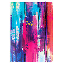 Buy Portico Flexi Inky Abstract Notebook, A5 Online at johnlewis.com