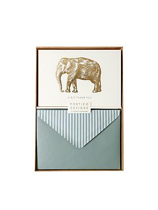 Portico Elephant Thank You Notecards, Box of 10