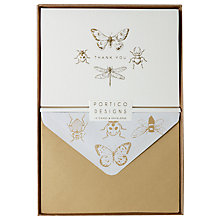 Buy Portico Gold Bug Thank You Notecards, Box of 10 Online at johnlewis.com