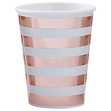 Buy Ginger Ray Hello World Paper Cups, Pack of 8 Online at johnlewis.com