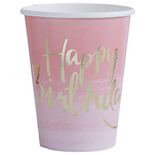 Buy Ginger Ray Pick and Mix Happy Birthday Paper Cups, Pack of 8 Online at johnlewis.com