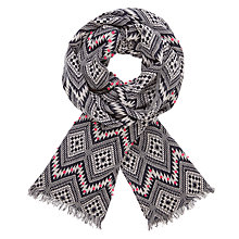 Buy AND/OR Moroccan Print Jacquard Scarf, Navy Mix Online at johnlewis.com