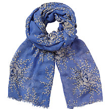 Buy John Lewis Vintage Flower Spray Scarf, Lilac/Multi Online at johnlewis.com