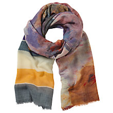 Buy John Lewis Hand Painted Floral Scarf, Multi Online at johnlewis.com