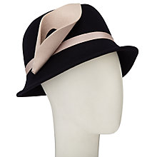 Buy John Lewis Calla Lily Flower Cloche Hat, Navy/Nude Online at johnlewis.com