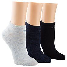 Buy Calvin Klein Logo Trainer Socks, Pack of 3 Online at johnlewis.com