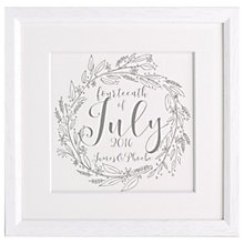 Buy Letterfest Personalised Wedding Calligraphy Framed Print Online at johnlewis.com