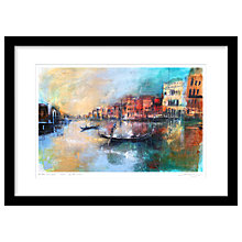 Buy Rob Wilson - As The Sun Sets In Venice Limited Edition Framed Print, 74 x 54cm Online at johnlewis.com