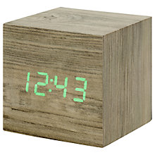 Buy Gingko Click Clock Cube LED Alarm Clock Online at johnlewis.com