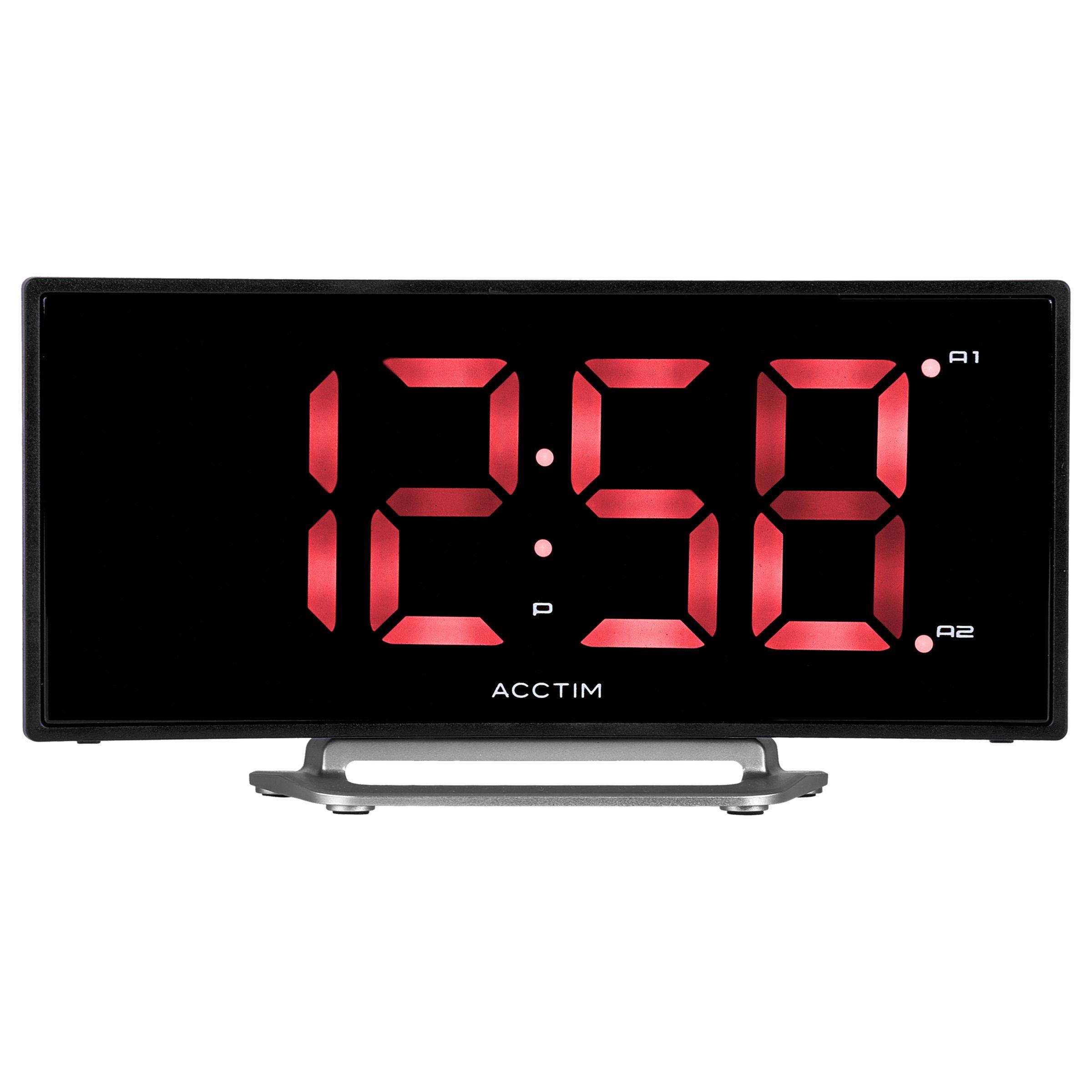 Acctim Acctim Sierra Curved LED Alarm Clock, Black