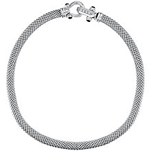 Buy Jools by Jenny Brown Sterling Silver Cubic Zirconia and Onyx Collar Necklace, Silver Online at johnlewis.com