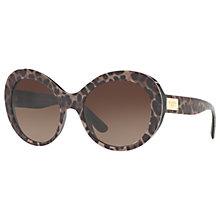 Buy Dolce & Gabbana DG4295 Outsize Oval Sunglasses Online at johnlewis.com