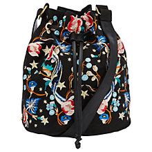 Buy Miss Selfridge Embroidered Bucket Bag, Multi Online at johnlewis.com