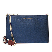 Buy Ted Baker Colour By Numbers Shaw Leather Across Body Bag Online at johnlewis.com