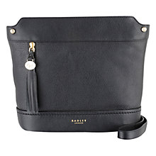 Buy Radley Roman Road Leather Large Across Body Bag, Black Online at johnlewis.com