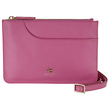 Buy Radley Pockets Leather Small Across Body Bag, Pink Online at johnlewis.com