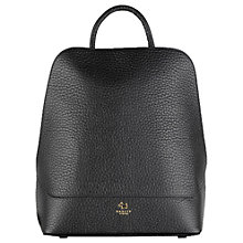 Buy Radley Kennington Leather Backpack, Black Online at johnlewis.com