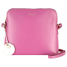 Buy Radley Millbank Leather Across Body Bag, Pink Online at johnlewis.com