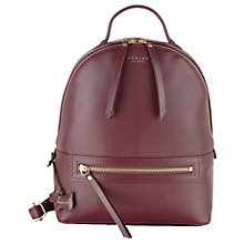 Buy Radley Northcote Road Leather Medium Backpack Online at johnlewis.com