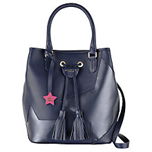 Buy Radley Southern Row Large Leather Grab Bag, Navy Online at johnlewis.com