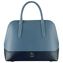 Buy Radley Kennington Leather Grab Bag, Navy Online at johnlewis.com
