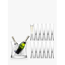 Buy LSA International Moya Flutes & Champagne Bucket, Set of 12 Online at johnlewis.com
